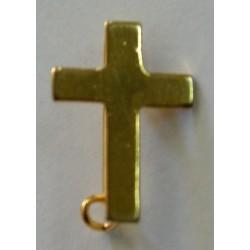 Cruz dorada sacerdote imperdible