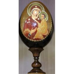 Huevo madera 13 cm Virgen