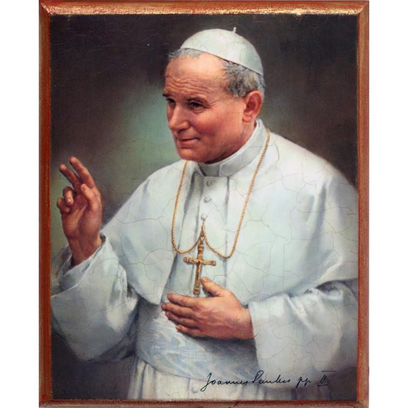 Icono Beato Juan Pablo II 21x27