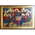 Icono madera Santa Cena 40x30 cm