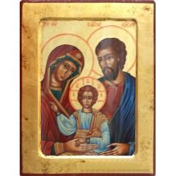 Icono madera Sagrada Familia 30x22 cm