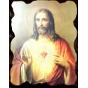 Cuadro icono Sagrado Corazón 40x30 Pergamino