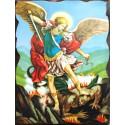 Cuadro icono San Miguel Arcángel 40x30 Pergamino