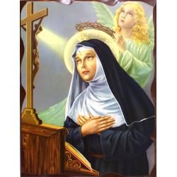 Cuadro icono Santa Rita 40x30 Pergamino