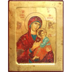 Icono madera Virgen María 31x24