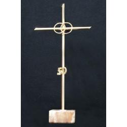 Cruz metal con anillos 50 aniversario – 20 cm