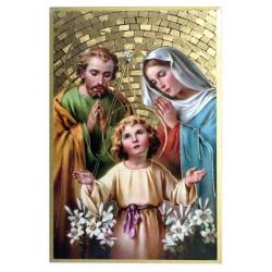 Cuadro oro Sagrada Familia