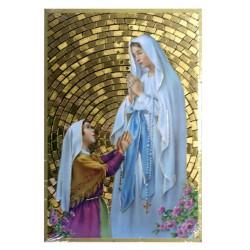 Cuadro oro Virgen de Lourdes