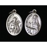 Medallita Santa Clara / San Francisco 2 cm
