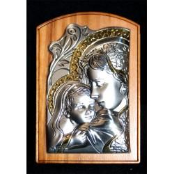 Cuadro madera olivo/plata 7x5