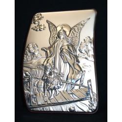 Cuadro plata Ángel de la Guarda 16x12