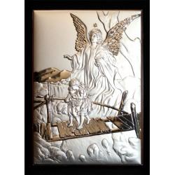 Cuadro plata 18x13 Ángel de la Guarda