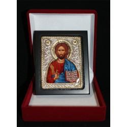 Icono plata con estuche 8 x 6,5 cm.