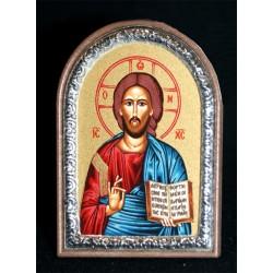 Icono plata borde redondo 6x4 cm. a color