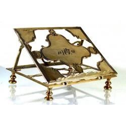Atril de mesa latón