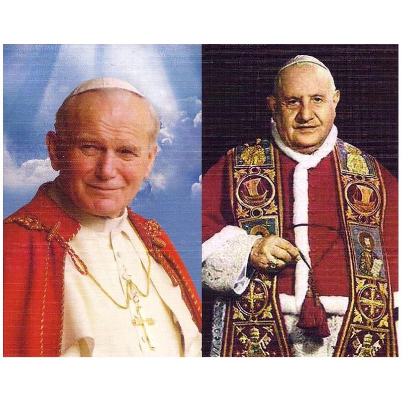 Díptico San Juan Pablo II y San Juan XXIII
