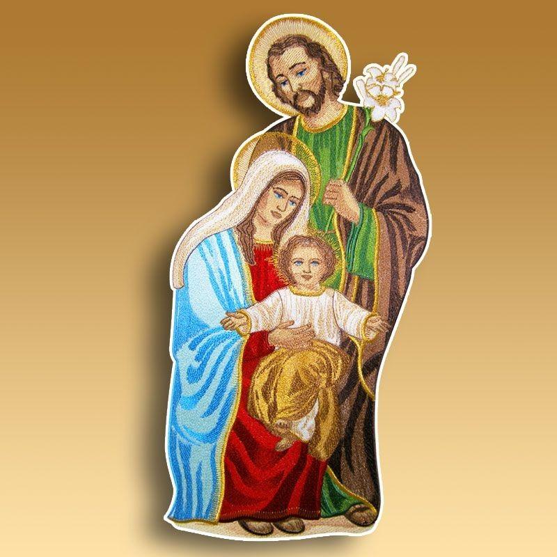 Aplicación bordada Sagrada Familia