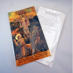 Cruz de San Damián con oración