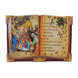 Cuadrito libro Nacimiento relieve