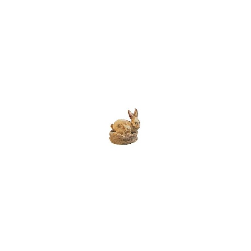 Cesta conejos decorado patina
