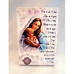 Cuadro madera Ave María