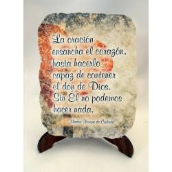 Cuadrito oración efecto piedra