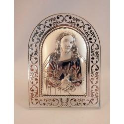 Cuadrito plata Corazón de Jesús