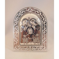 Cuadrito plata Sagrada Familia