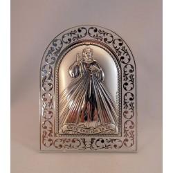 Cuadrito plata Cristo de la Misericordia