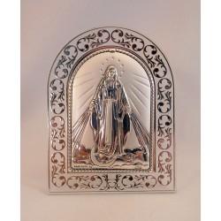 Cuadrito plata Virgen Milagrosa
