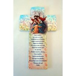 Crucifijo en piedra sintética Padre Nuestro