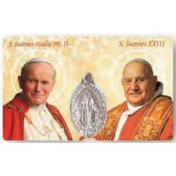 Estampa Juan Pablo II y Juan XXIII
