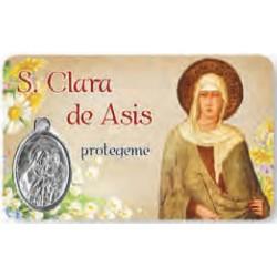 Estampa Santa Clara de Asís