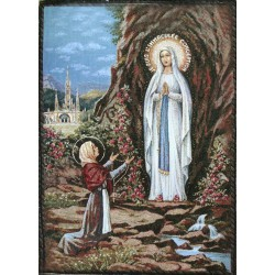 Tapiz Virgen de Lourdes (gobelin)