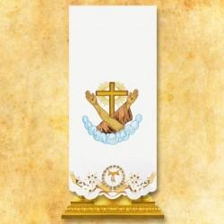 Cubre ambón franciscano bordado