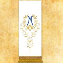 Cubre ambón mariano bordado