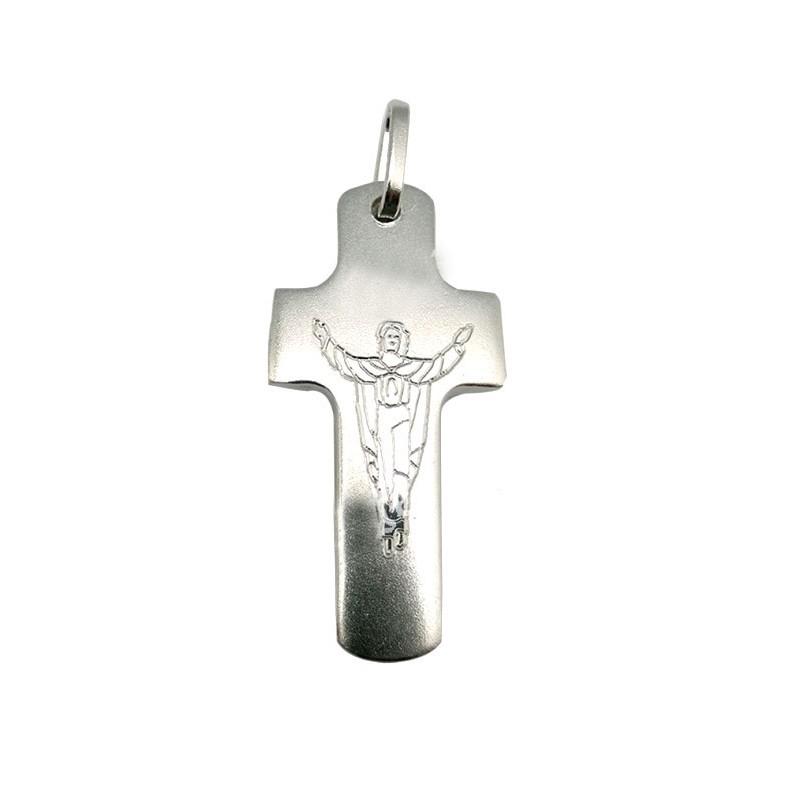 Cruz de Plata Jesus Resucitado