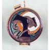 Portaviático relieve esmaltado Franciscano