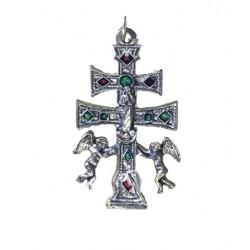 Cruz de Caravaca plateada