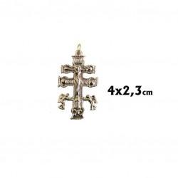 Cruz de Caravaca de 4 cm.