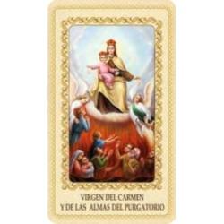 Estampa Virgen del Carmen y las almas del purgatorio
