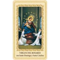 Estampa Virgen del Rosario