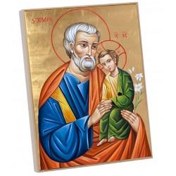 Icono madera San José