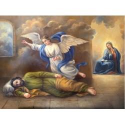 Lienzo San José dormido