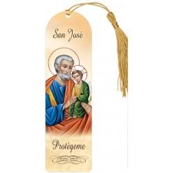 Marcapáginas plastificado de San José 2