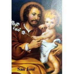Estampas y láminas San José flor