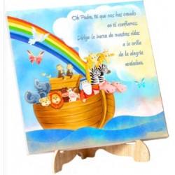 Lienzo Arca de Noé con soporte
