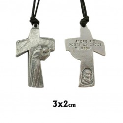 Colgante cruz Padre Pio