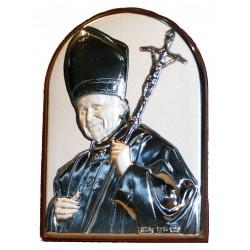 Icono Plata Juan Pablo II