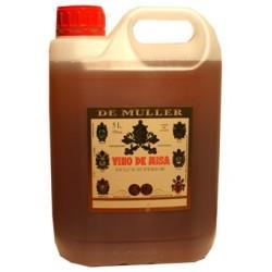 Garrafa 5 litros vino de misa De Muller